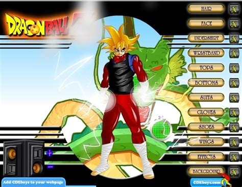 Play Dragon Ball Dress Up Dragonball Z Games Play
