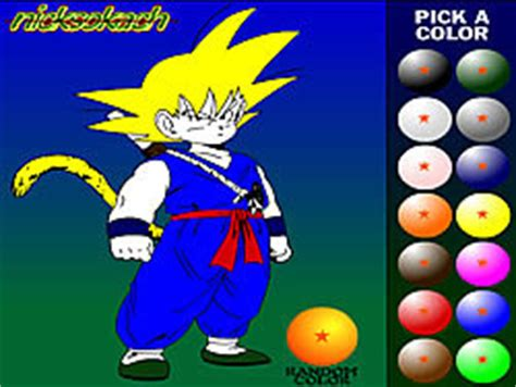 Play Dragon Ball Z Painting game online Y8 COM
