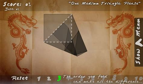 Play Folds Origami Game a free online game on Kongregate