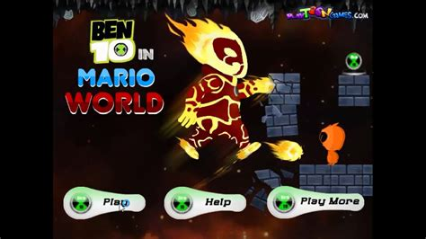 Play Mario in Ben 10 World Game Free online Games