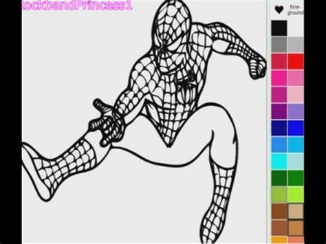 Play Spiderman Cartoon Coloring Game Online