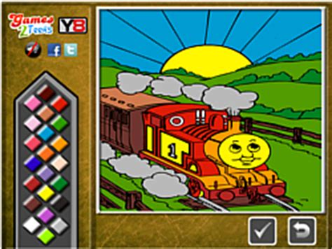 Play Thomas the Tank Online Coloring game online Y8 COM