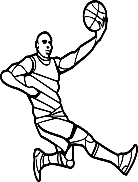 Player Basketball Coloring Pages Sport Coloring pages of