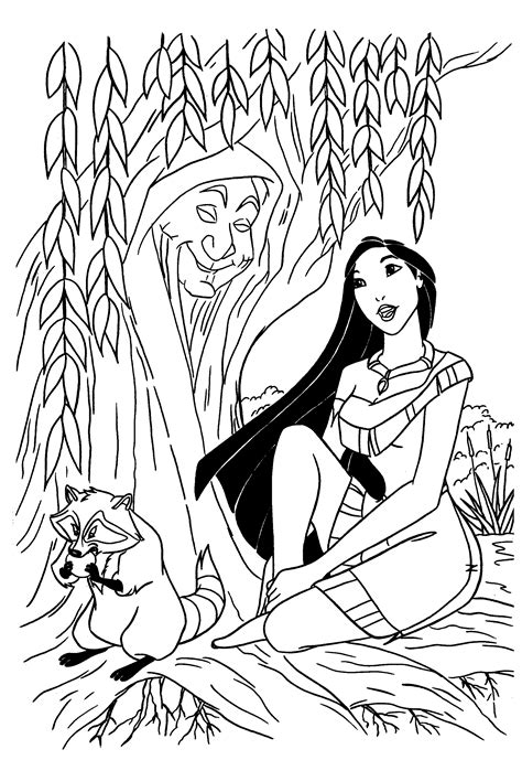 Pocahontas coloring pages Free Coloring Pages