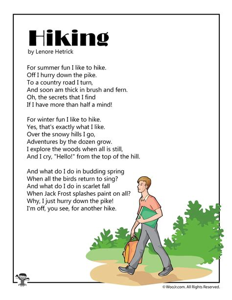 Poems for Kids Woo Jr Kids Activities