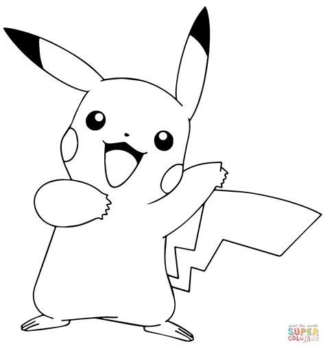 Pok mon GO Pikachu coloring page Free Printable Coloring
