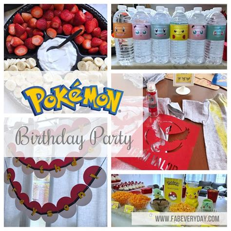 Pokemon Themed 7th Birthday Party Fab Everyday