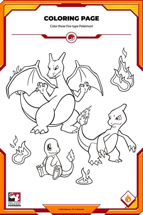 Pokemon Type Fire Coloring