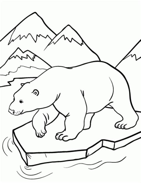 Polar Bear Coloring Pages Free Printables for Kids