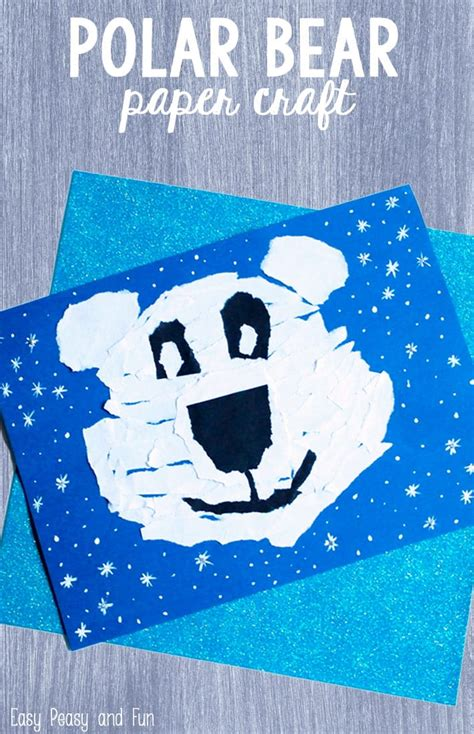 Polar Bear Paper Craft Easy Peasy and Fun