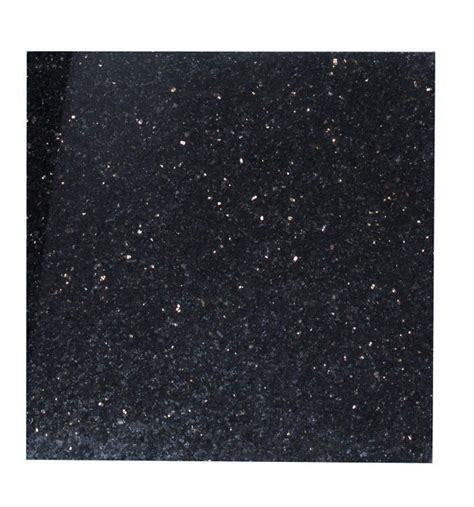 Polished Granite Black Galaxy 30 5x30 5cm Tile Topps Tiles
