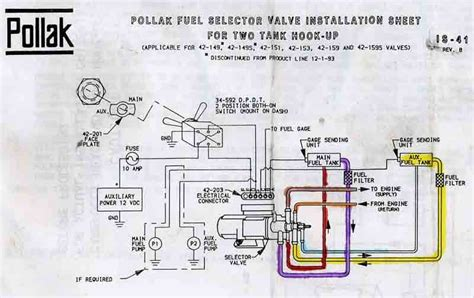 ford fuel tank selector valve diagram schematic all about repair ford fuel tank selector valve diagram schematic pollak fuel tank selector valve wiring diagram schematic