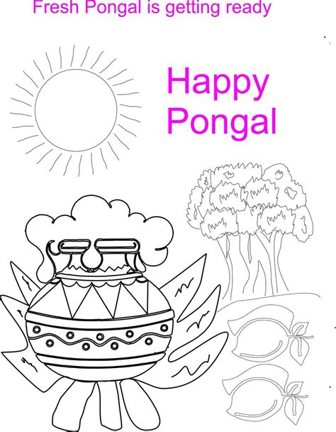 Pongal Coloring pages Download Free Pongal Coloring
