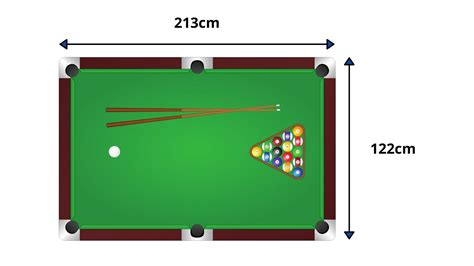 Pool Table Dimensions Pinterest