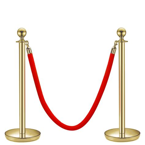 Post And Rope Stanchion Ropes and Metal Red Carpet