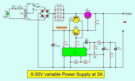 Power supply and power control circuit diagrams circuit