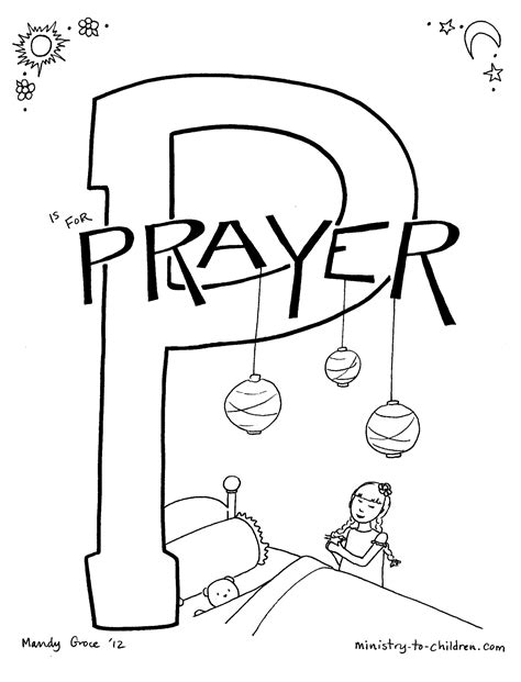 Prayer Coloring Page Bible Story Printables