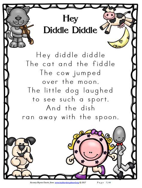 PreK Early Childhood Nursery Rhymes Printable Activities