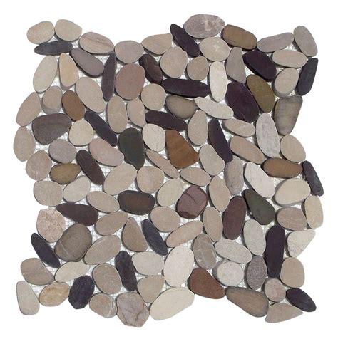 Premium Sliced Beach Pebble Sliced Pebble Tile