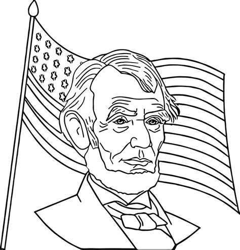 President Abraham Lincoln Coloring Page Abe Lincoln US