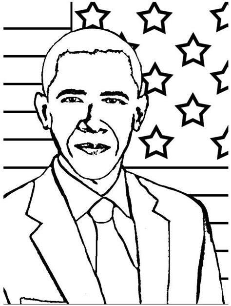 President Obama Coloring Page Black History Coloring Pages