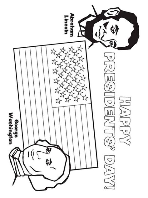President s Day Online Coloring Pages Page 1