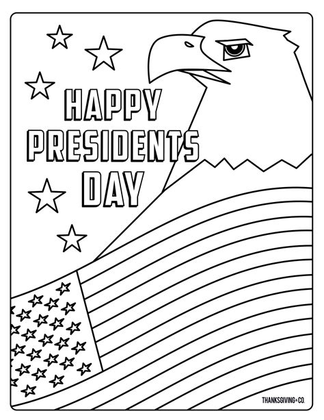 Presidents Day Coloring Pages Activity Sheets