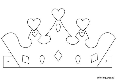 Prince and Princess Crown Printable Templates Coloring