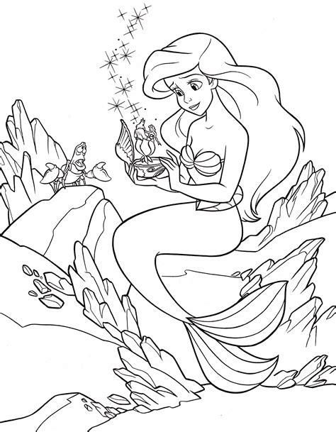 Princess Ariel Online Coloring page Y8 Com