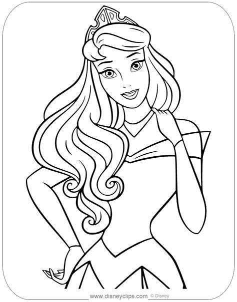 Princess Aurora s Autumn Coloring Page Disney Family