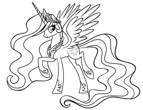 Princess Celestia coloring page Free Printable Coloring