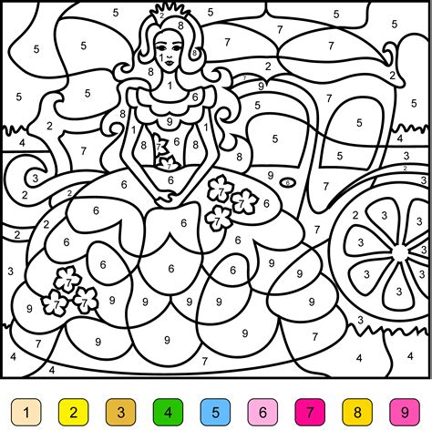 Princess Coloring Games for Girls Color by Numbers