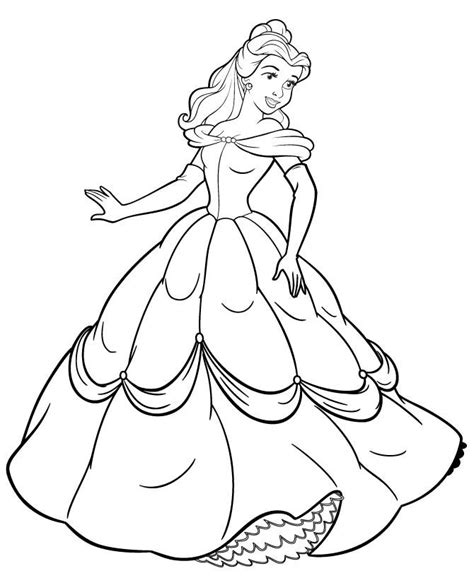 Princess Coloring Page Free Princess Online Colo