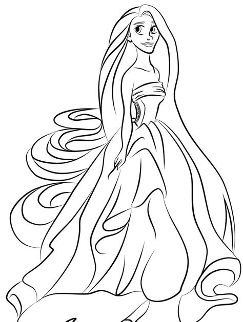 Princess Pages Coloring Pages