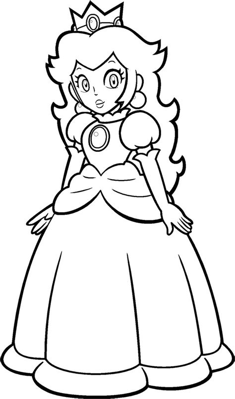 Princess Peach coloring page Free Printable Coloring Pages
