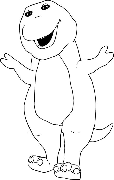 Print Barney coloring pages to color