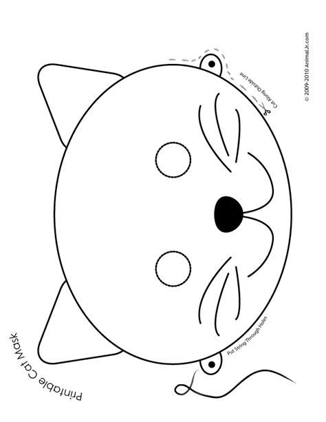 Printable Animal Masks Cat Mask Woo Jr Kids Activities