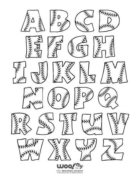 Printable Baseball Alphabet Letters Woo Jr Kids Activities