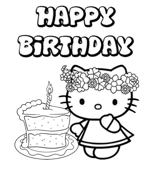 Printable Birthday Coloring Pages PrintActivities