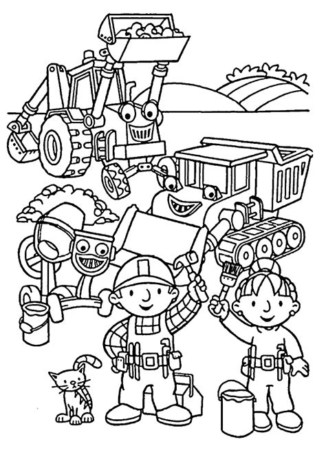 Printable Bob The Builder Coloring Pages Free 38907