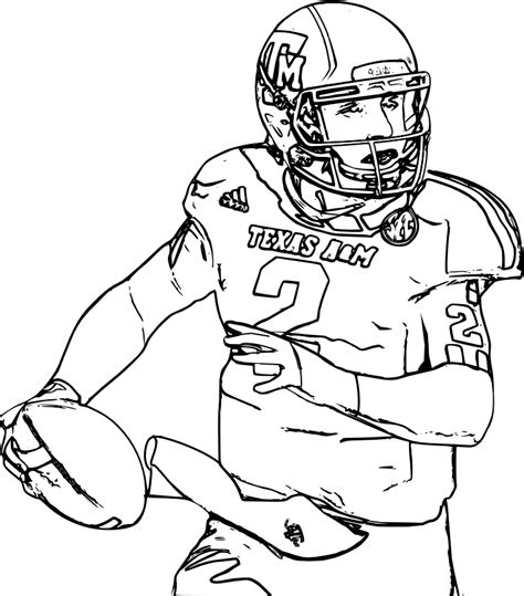 Printable College Football Coloring Sheets