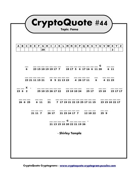 Printable Cryptogram Puzzles and Crypto Families