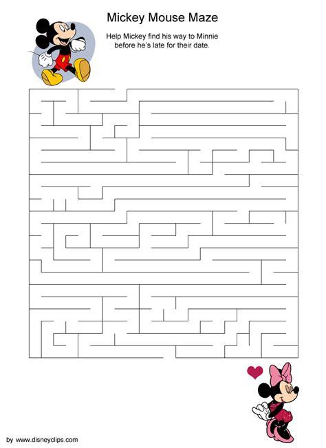 Printable Disney Mazes Disney s World of Wonders