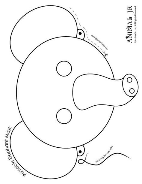 Printable Elephant Masks Coloring Page Woo Jr Kids
