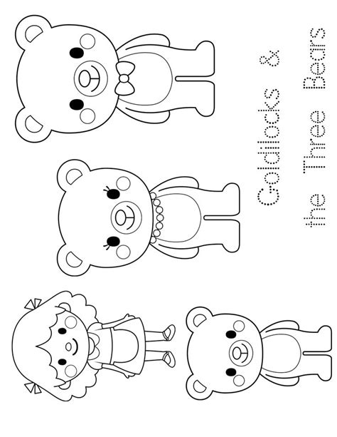 Printable Goldilocks Activities and Coloring Pages