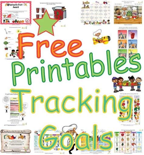 Printable Healthy Habits Goals Tracking Sheets for Kids