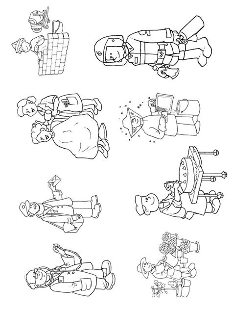 Printable Jobs and Professions Coloring Pages for Kids