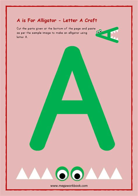 Printable Letters A Letter A for Kids Printable