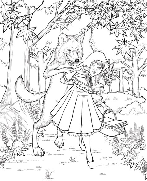Printable Little Red Riding Hood Activities and Coloring Pages