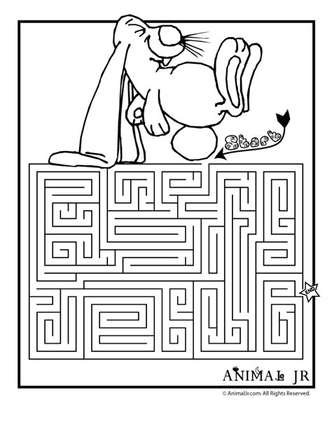 Printable Mazes Spring Themed Coloring Pages Animal Jr